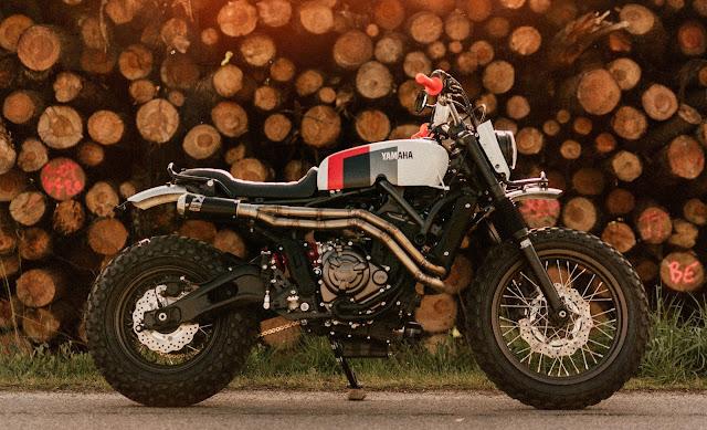 Yamaha XSR700 By Sur Les Chapeaux De Roues Hell Kustom