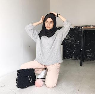 style baju hijab anak muda simpel