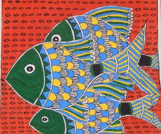 Madhubani Fishes