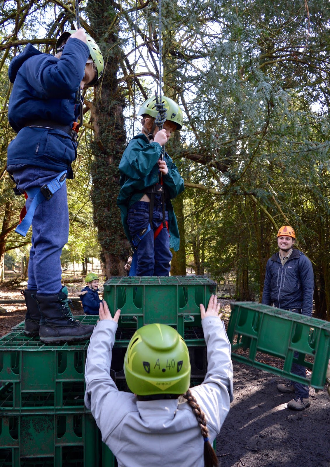 Beamish Wild | School Holiday Club & Activities in County Durham | North East England - crate stack climbing