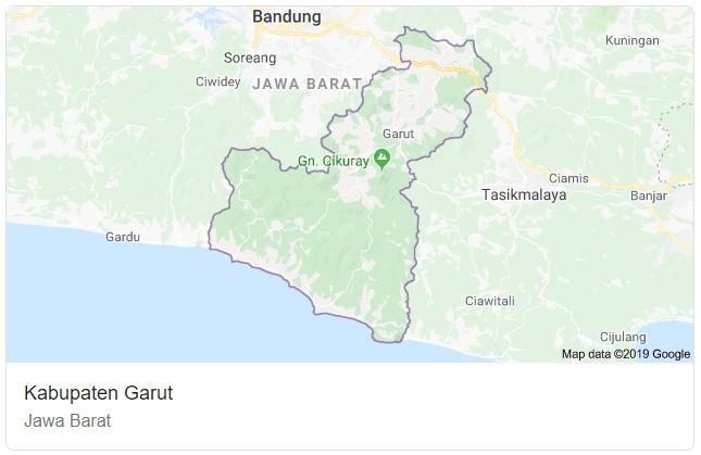 Peta Kabupaten Garut Jawa Barat