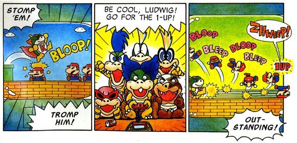 Super Mario Adventures Koopalings play Super Mario Bros. parody videogame
