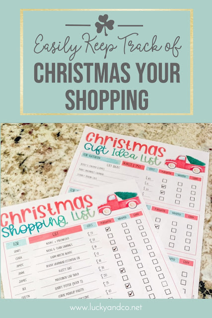 Easily create your Christmas Shopping and Gift List with this FREEBIE!