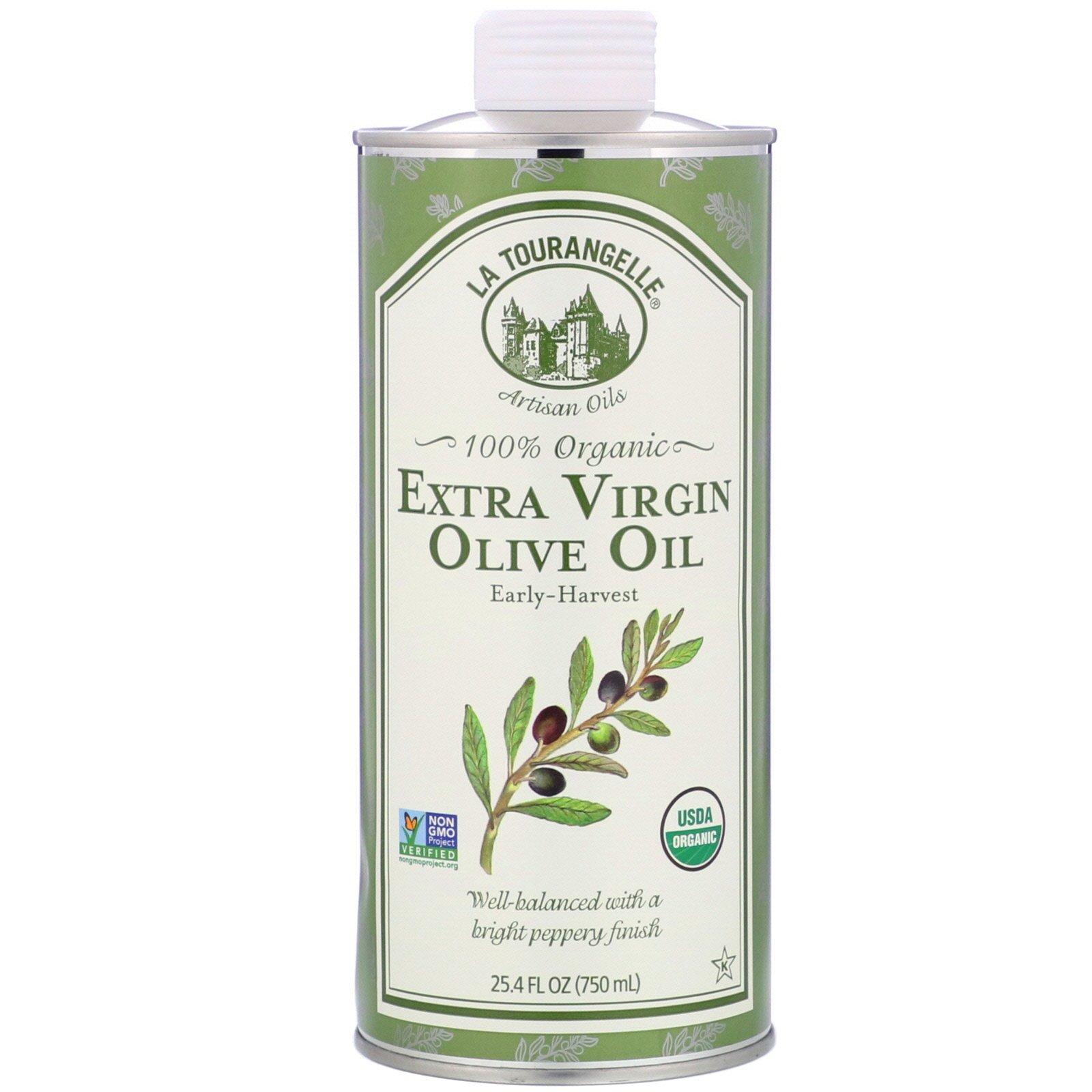 La Tourangelle, 100% органическое оливковое нерафинированное масло первого холодного отжима, 750 мл (25,4 жидк. унции)