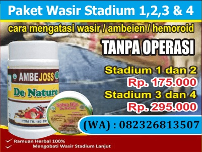 JUAL DI SINGAPURA SALEP WASIR DE NATURE (TANPA OPERASI)