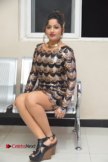 Actress Madhavi Latha Pictures in Short Dress at On Mona Birthday Premiere 0053