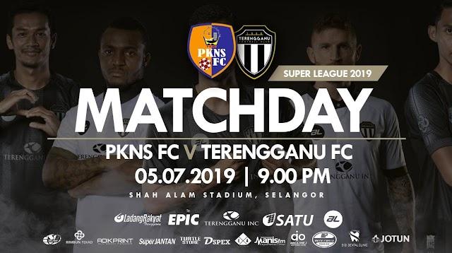 PKNS FC vs Terengganu Live Liga Super 5.7.2019