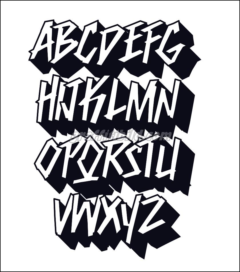 10 coole graffiti abc buchstaben ausdrucken kostenlos