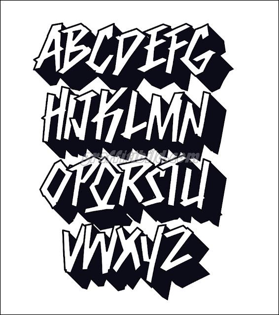 Graffiti schrift abc, graffiti abc tag