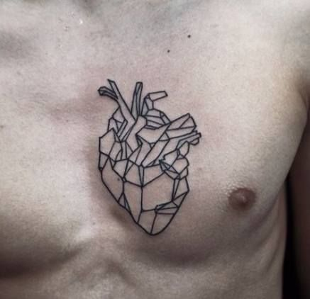 Geometric Chest Tattoo