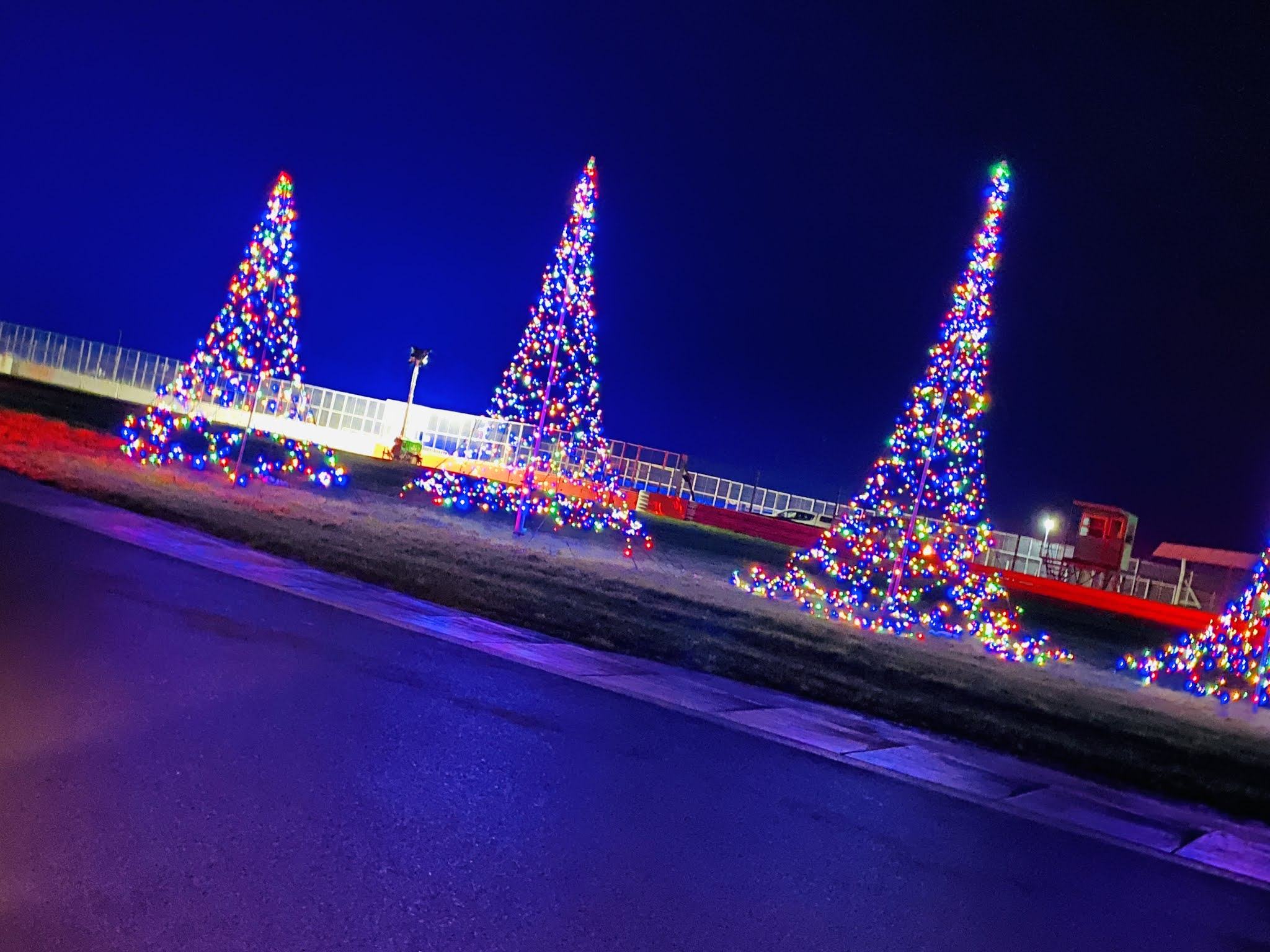 Lap Land Silverstone Review Christmas trees and lights
