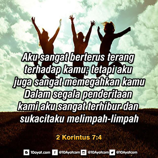 2 Korintus7:4