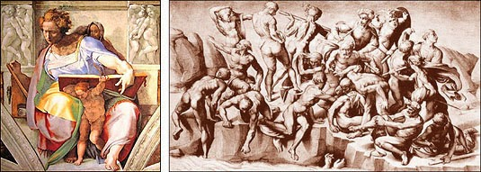 Michelangelo Figures - Idealized Human Form