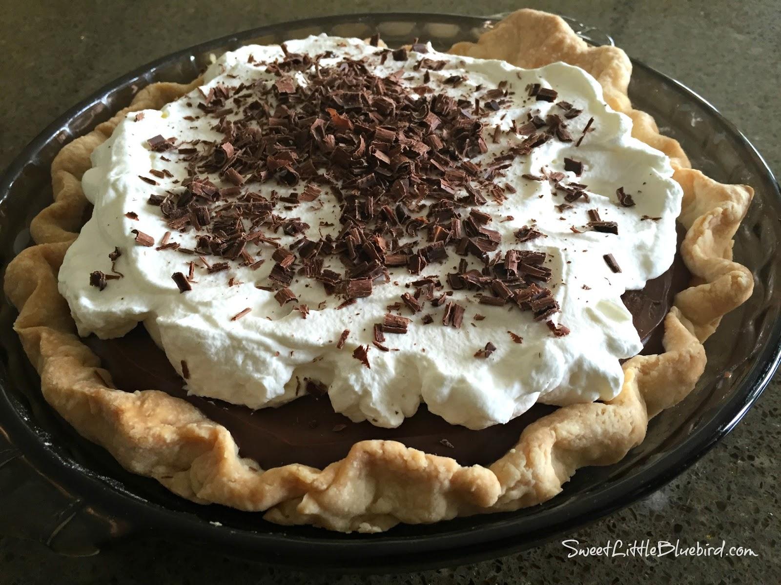 Sweet Little Bluebird: The Best Homemade Chocolate Pudding Pie