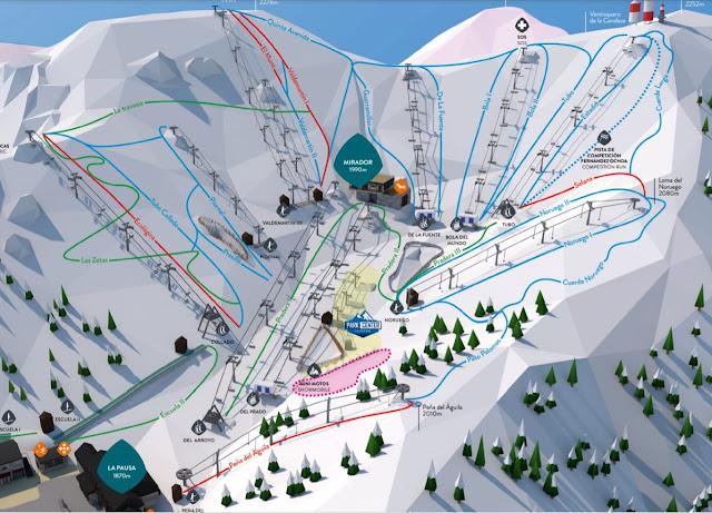 pistas de nieve en Valdesquí Madrid
