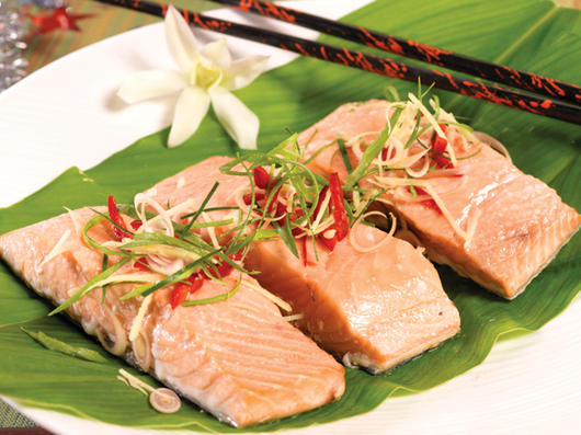 Steamed Salmon Easy Microwave Recipe