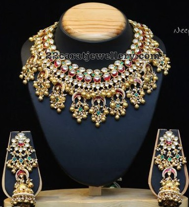 Kundan Ruby Necklace by Neepa