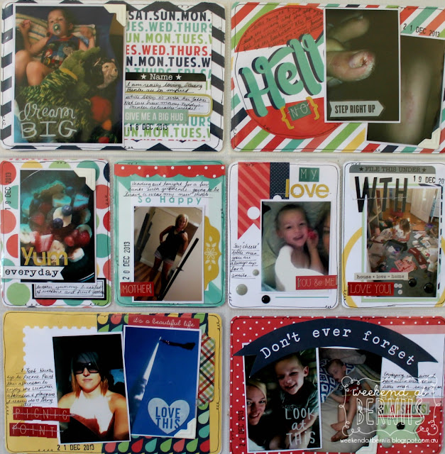 "A weekend with "" Week 52"" project life layout by Bernii Miller."