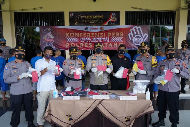 Ungkap 7 Kasus Narkoba, Satresnarkoba Polres Batang Raih Peringkat Pertama di Polda Jawa Tengah