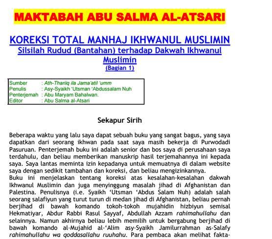 Ebook Maktabah Abu Salma