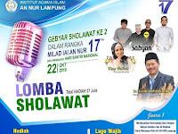 Gebyar Sholawat ke 2 Dalam Rangka Milad IAI An Nur Lampung ke 17 dan Peringati Hari Santri Nasional