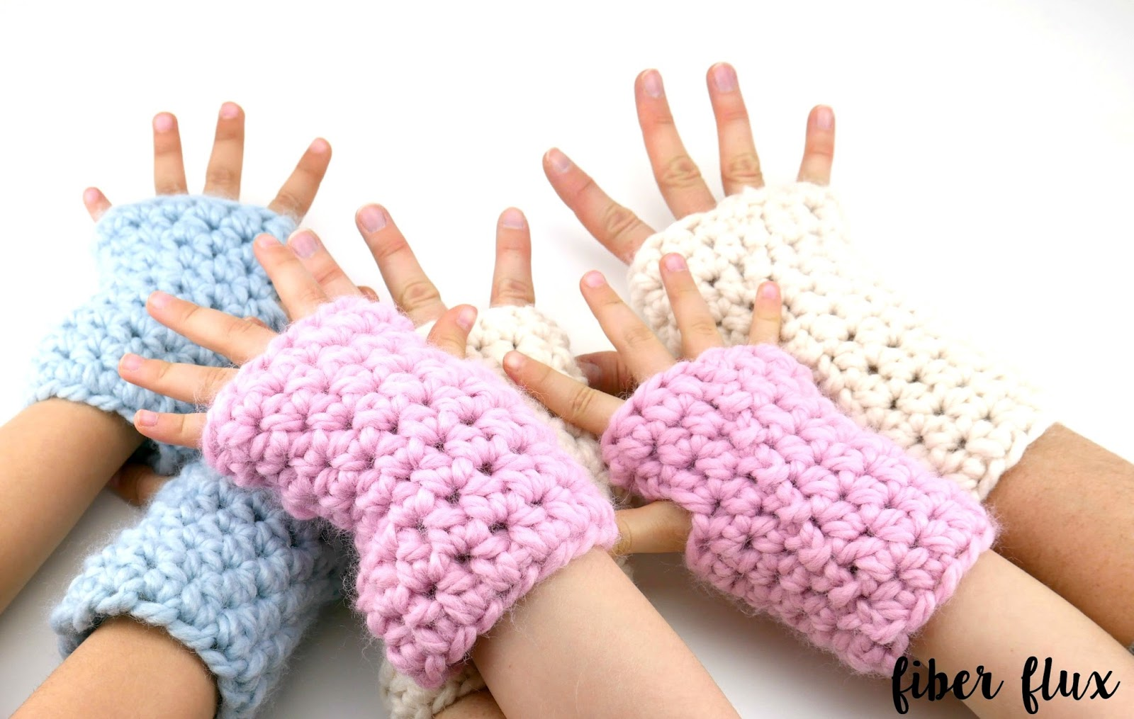 Fiber Flux Free Crochet Patternunky Mitts For Everyone