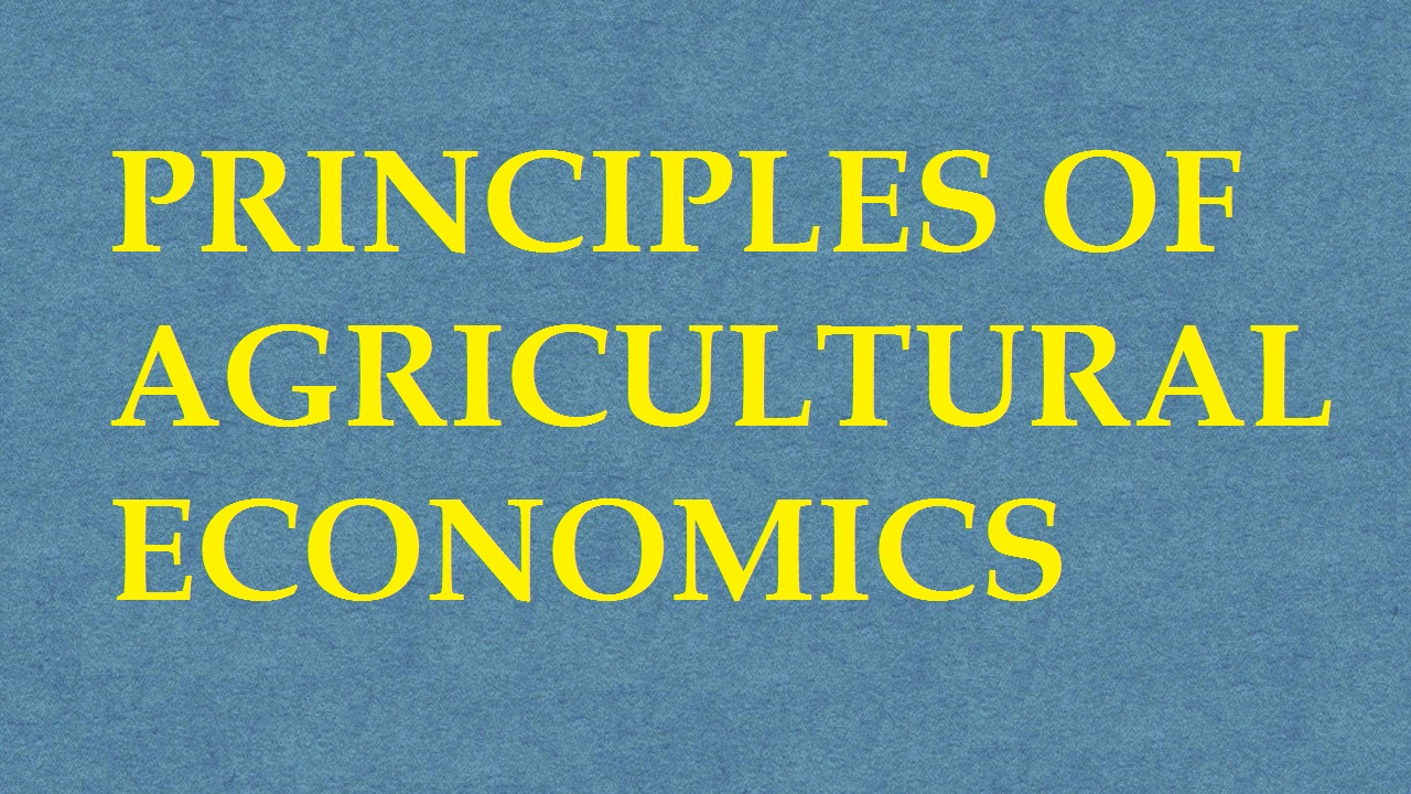 Principles Of Agricultural Economics ICAR E course Free PDF Book Download e krishi shiksha