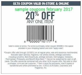 Ulta coupons february 2017