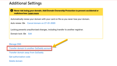 transfer-domain-to-another-GoDaddy-account