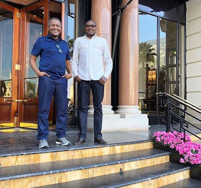 Dangote and Otedola Step Out Abroad Looking Trendy