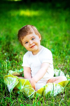 cute baby boy with smile photo