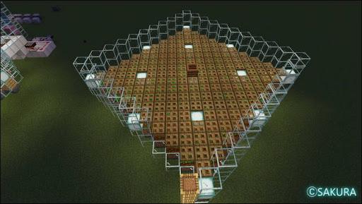 Minecraft 自動小麦農場 耕作地 光源の配置