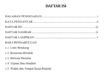 penomoran daftar isi di word manual
