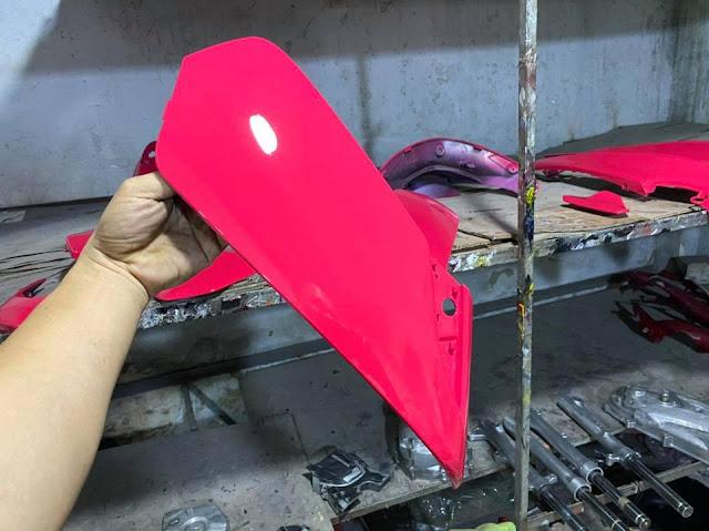 Mẫu Xe Air Blade sơn màu hồng candy cực đẹp
