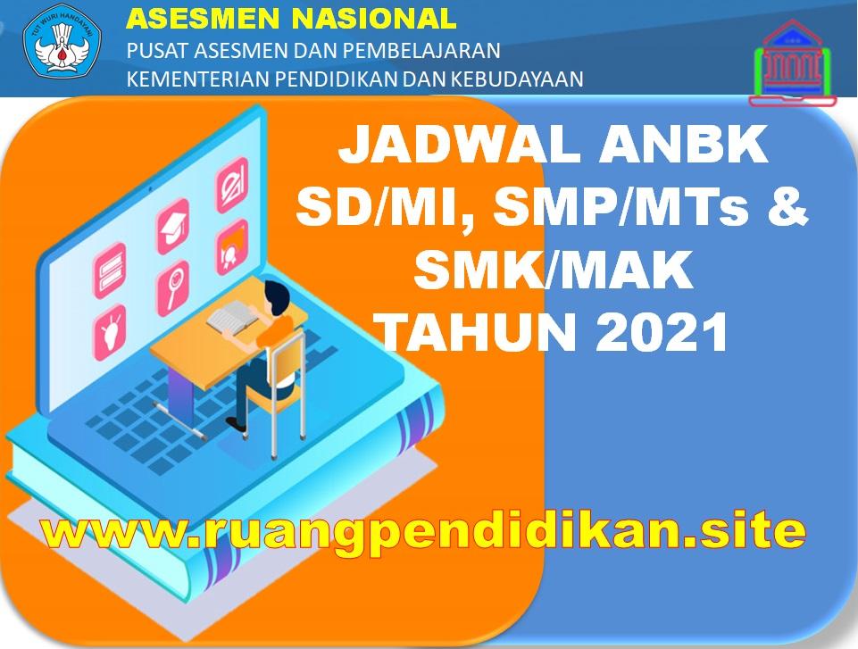 Jadwal Pelaksanaan ANBK Jenjang SD/MI, SMP/MTS, SMA/MA