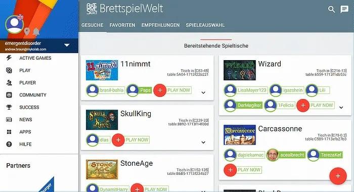 ألعاب الطاولة Brettspielwelt