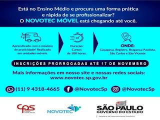 Novotec Móvel prorroga as inscrições online até domingo (17) para curso gratuito na área da Produção Industrial