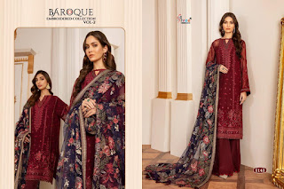 Shree Fab Baroque Embroidered Vol 2 Pakistani Suits Collection In Wholesale Rate