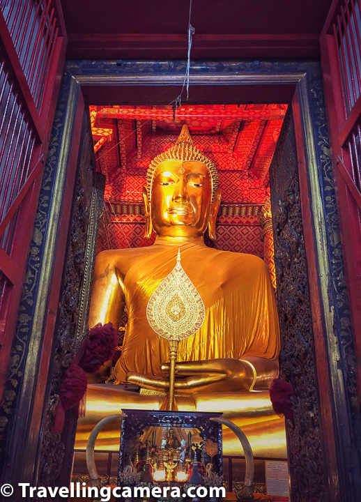 Related Blogpost - Wat Saen Muang - A hidden gem among Chiang Mai Temples in Thailand    Some of these new temples around river bank are huge. Notice the size of Buddha in above photograph which is clicked through pretty high door inside the temple. This is one of the new temples in Ayutthaya city of Thailand.     Related Blog-post : Charming Thai-style Homestay, Authentic Thai food & Ayuthhaya Travel tips || 10-Day Vacation in Thailand (Day 3)