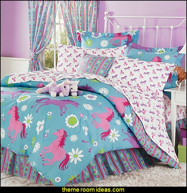 Flower Ponies Bed-In-A-Bag horse theme bedrooms