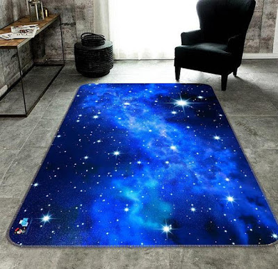 3D Star Space Carpet
