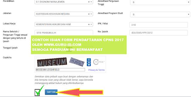 gambar cara pengisian form pendaftaran cpns di sscn bkn go id