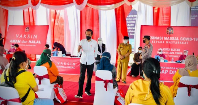 Presiden Jokowi Apresiasi Antusiasme Masyarakat Ikuti Program Vaksinasi Covid-19