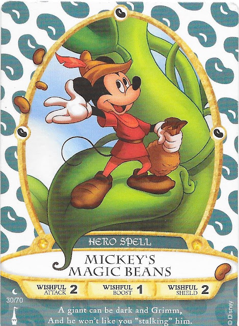 Mickey's Magic Beans Spell Card 30/70