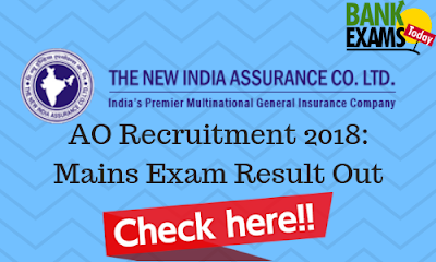 NIACL Administrative Officers Recruitment 2018: Mains Exam Result Out