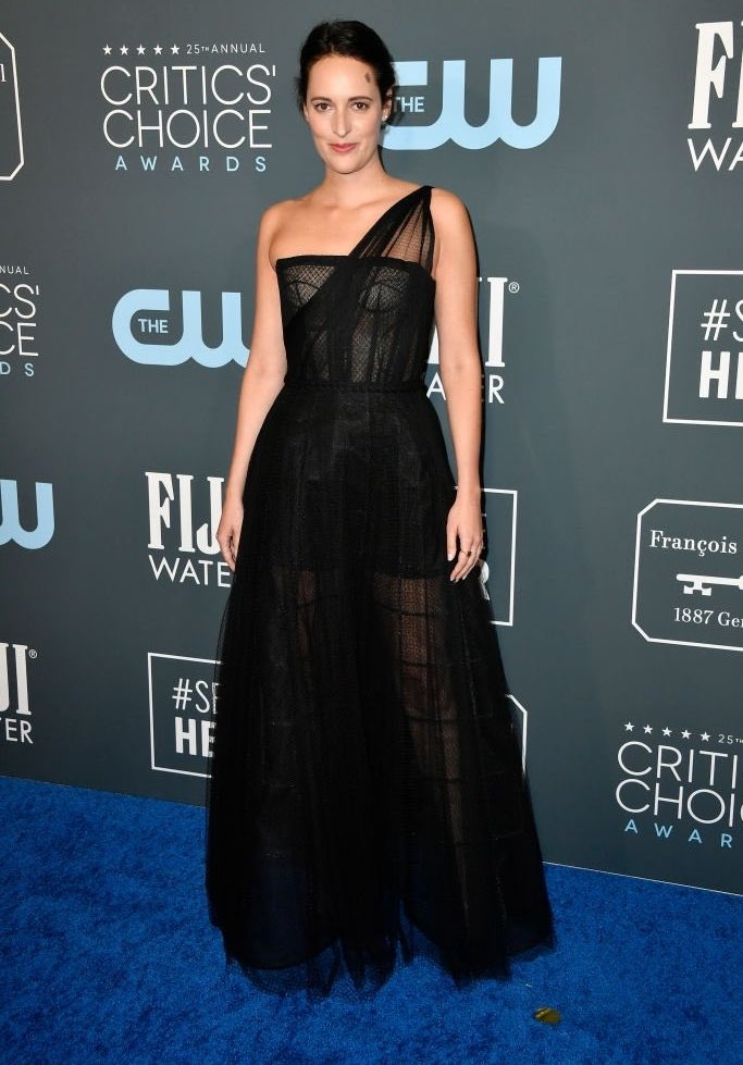 Phoebe Waller-Bridge arrives in Dior at the 2020 Critics' Choice Awards in LA