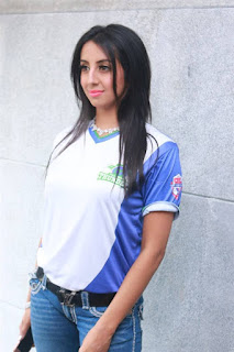 Sanjjanaa Stills At CBL Telugu Thunders Team Jersey Launch 4.jpg