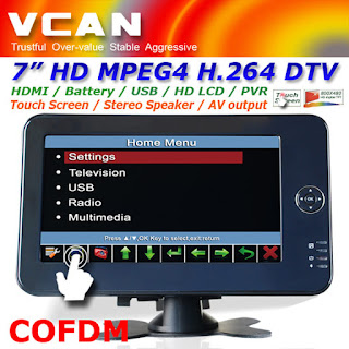 7 inch screen monitor for COFDM Receiver