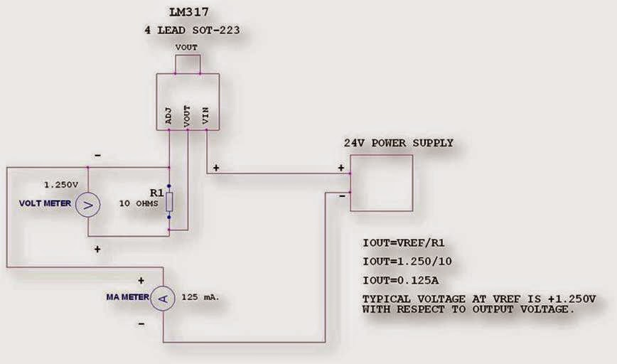 Analog Designs By V P Joshi: LM317 CONSTANT CURRENT MODE OR