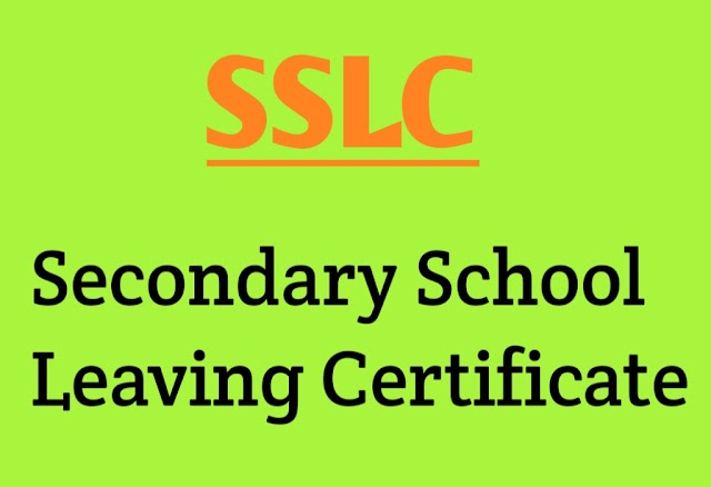 SSLC Full Form - What is Full Form Of SSLC?